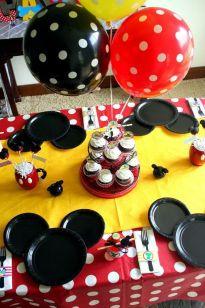 decoração mesa mickey