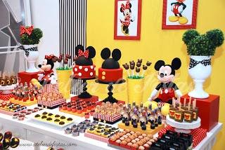 mesa de festa mickey mouse